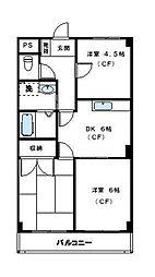 ロイヤルタウン下九沢[3階]の間取り