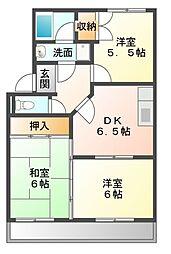 愛知県豊川市御油町西沢の賃貸アパートの間取り