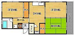 堂園ビル(ドウゾノ)[306号室]の間取り