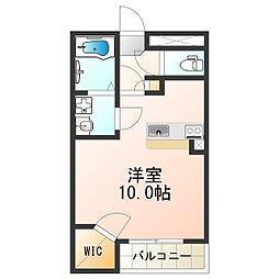 南海加太線 二里ヶ浜駅 徒歩5分の賃貸アパート 2階ワンルームの間取り