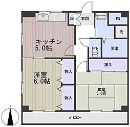 鳴島ビル[4階]の間取り
