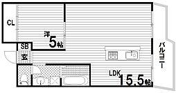 Gulia須磨浦II[1階]の間取り