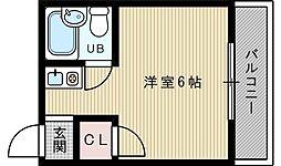 吹田アベニュー[4階]の間取り