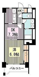 サウザンドリバー[9階]の間取り