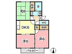 プリムローズ倉敷 A[101号室]の間取り