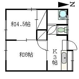 松尾アパート[201号室]の間取り