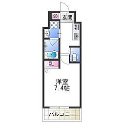 FDS PLACZ SHIN-OSAKA 12階1Kの間取り