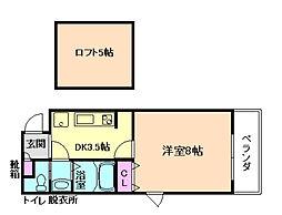 ロフティ三番館[3階]の間取り