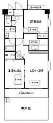 神奈川県横浜市青葉区元石川町の賃貸マンションの間取り