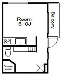 高石神アパートメント[-2階]の間取り