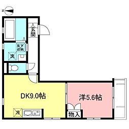 Ma Maison 祐天寺 2階1DKの間取り