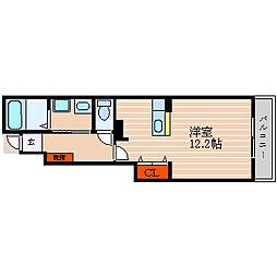 滋賀県彦根市稲部町の賃貸アパートの間取り