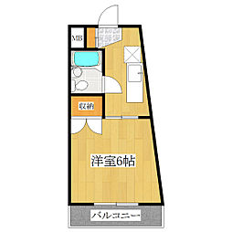 東京都北区中里1丁目の賃貸マンションの間取り