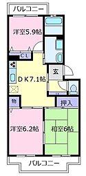 メゾンキララ[3階]の間取り