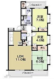 鷺沼エムロード[2階]の間取り