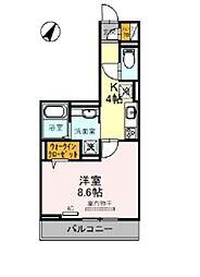 東武野田線 大宮公園駅 徒歩5分の賃貸アパート 1階1Kの間取り