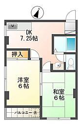 奈良コーポ[4階]の間取り