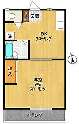 神奈川県川崎市多摩区菅馬場1丁目の賃貸アパートの間取り
