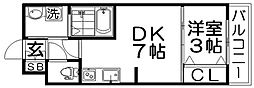 AveniruII[3階]の間取り