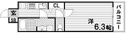 デコール神戸1[5階]の間取り