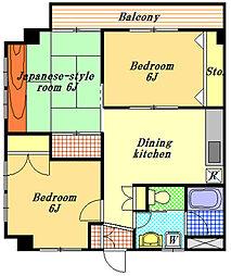 セントラルマンション[3階]の間取り