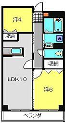 神奈川県横浜市港北区日吉5丁目の賃貸マンションの間取り