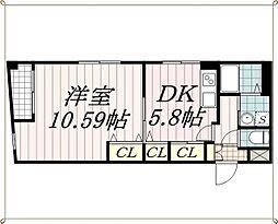 ミレナコート[3階]の間取り