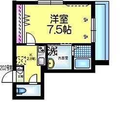 仮称)平田3丁目2メゾン 2階1Kの間取り