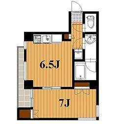 松涛フラッツ[3階]の間取り