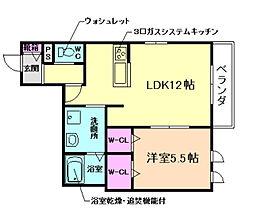 (仮称)北区同心ヘーベルメゾン[4階]の間取り