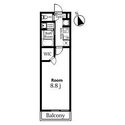 JR総武線 津田沼駅 徒歩7分の賃貸アパート 3階1Kの間取り