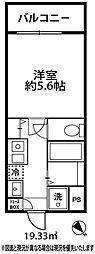 ドミール大倉山[204号室]の間取り