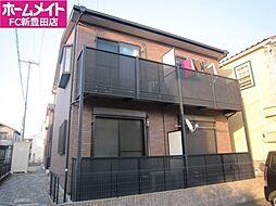 愛知県豊田市越戸町安貝戸丁目の賃貸アパートの外観