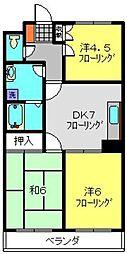 カディール二俣川[3階]の間取り