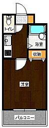 ユートピア原田弐番館[502号室]の間取り