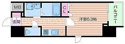 Osaka Metro堺筋線 堺筋本町駅 徒歩10分の賃貸マンション 5階1Kの間取り