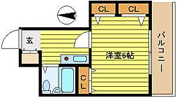 第21新井ビル[506号室]の間取り