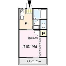 シャトレM's弐番館[2階]の間取り