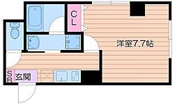 Osaka Metro御堂筋線 江坂駅 徒歩13分の賃貸マンション 1階1Kの間取り