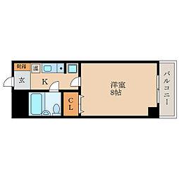滋賀県東近江市五個荘清水鼻町の賃貸マンションの間取り