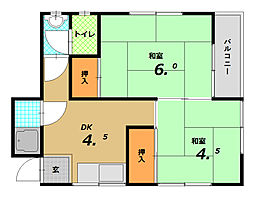 野田マンション[2階]の間取り