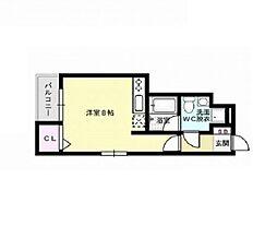 福岡県福岡市早良区梅林6丁目の賃貸アパートの間取り