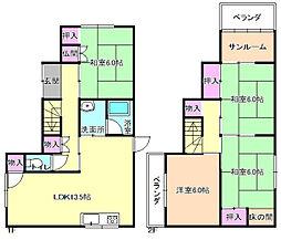 [一戸建] 大阪府枚方市春日元町2丁目 の賃貸【/】の間取り