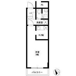 クレール本郷台[2階]の間取り