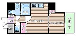 Osaka Metro谷町線 谷町九丁目駅 徒歩1分の賃貸マンション 6階1DKの間取り