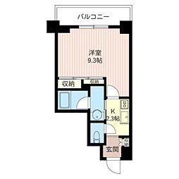 La Maison Taillevent 4階1Kの間取り