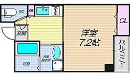 リバーライズ南堀江[5階]の間取り