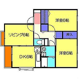 コスモレーヴ東山田I[201号室]の間取り
