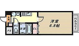 大阪府堺市西区鳳東町5丁の賃貸マンションの間取り