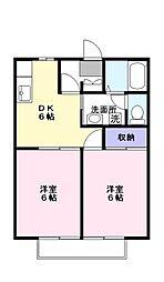 サンダイヤコーポ[1階]の間取り
